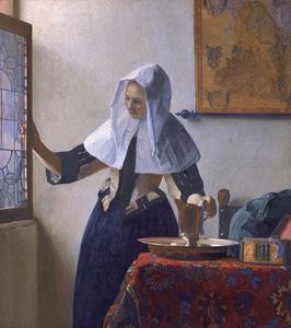 Jan Vermeer: Junge Frau mit Wasserkanne am Fenster